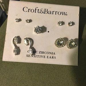 4 Sets of CZ Earrings